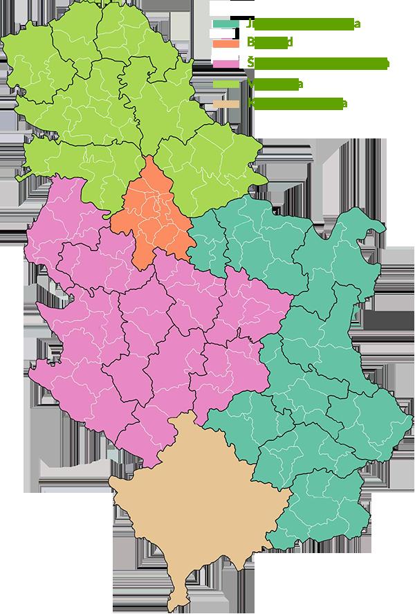 klimatska karta srbije PSSS Poljoprivredne savetodavne i stručne službe Republike Srbije klimatska karta srbije
